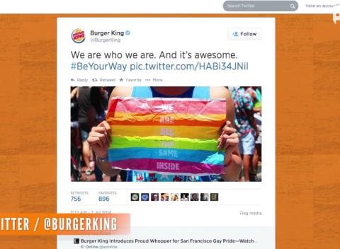 News video: Burger King's LGBT-Inspired Packaging Gets Mixed Reaction