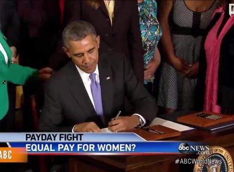 News video: White House Gender Pay Gap Catches Criticism